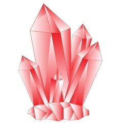 Red stone crystal vector image