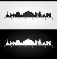 Santa fe usa skyline and landmarks silhouette vector