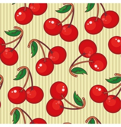 seamless cherry vector image vector image