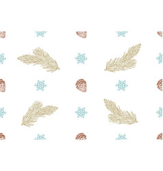 seamless christmas pattern on a white background vector image