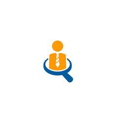 Search job logo icon design vector