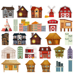 set different house vector image