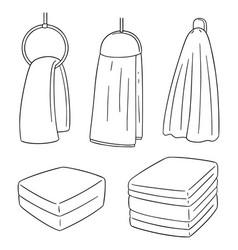 set of hand towel vector image