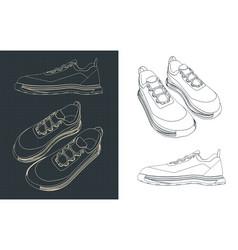 sneakers drawings vector image