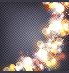 Soft bokeh and lights background transparent vector