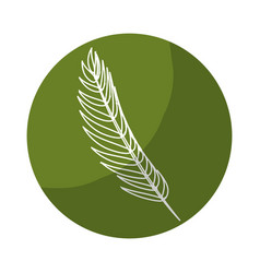 Sticker tropical branch leaves plant vector