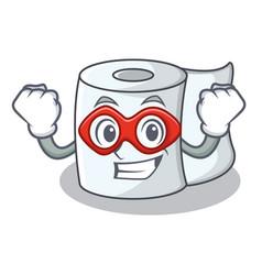 Super hero tissue character cartoon style vector