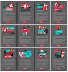 super sale 50 percent reduced price web pages s vector image