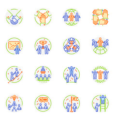 Teamwork icon teambuilding logo and vector