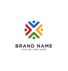 teamwork logo design inspiration vector image