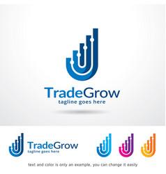 Trade grow logo template vector