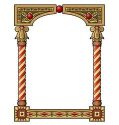 Traditional column frame vector