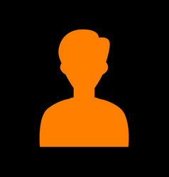 User avatar anonymous sign orange vector