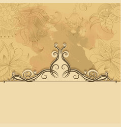 Vintage background with lace ornament vector