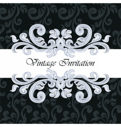 Vintage Classic Invitation with ornaments vector
