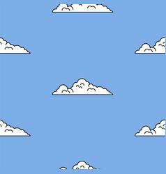 Vintage game art background style blue sky vector