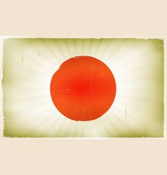 vintage japan flag poster background vector image