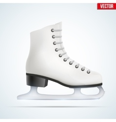 White ice skates vector image