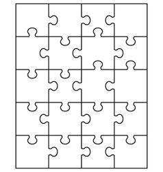 White puzzle 3 vector