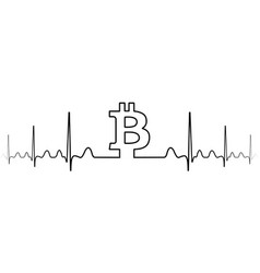 fluctuation exchange rate bitcoin one line drawing vector image
