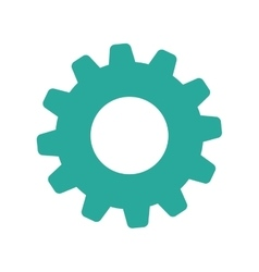 Isolated gear symbol vector image vector image