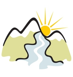 Mountain symbol vector image vector image