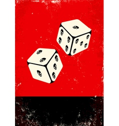 Poster with dice vector image vector image