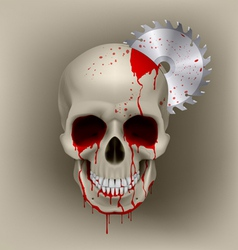 Skull dead vector image