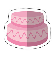 wedding cake sweet image vector image