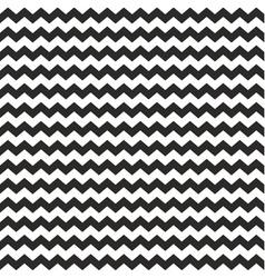Zig zag chevron wrapping tile black white pattern vector image