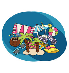 beach and travel design set vector image