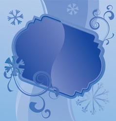 blue christmas snowflakes vector image