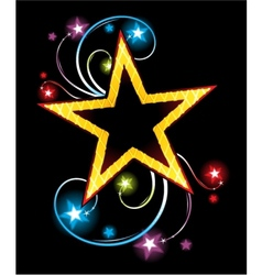 Gold star vector image vector image