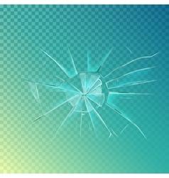 Mirror or broken glass cracked shattered window vector
