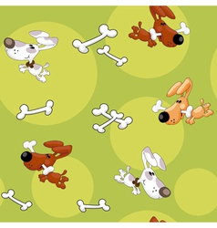 seamless dogs and bones vector image vector image