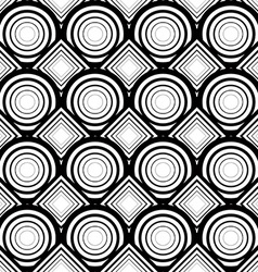Seamless geometric background simple black and vector image vector image