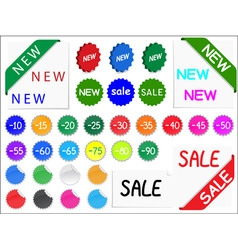 vector set of tags for discount prices vector image vector image