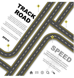 Different road set background vector