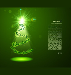 eve tree background greeting card with green vector image vector image
