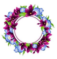 Flower Frame vector image vector image
