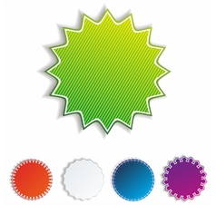 realistic stickers vector image vector image