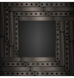 Steampunk background metal plates Frame vector image