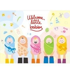 Welcome little babies vector image vector image