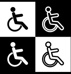 disabled sign black and vector image vector image