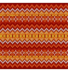 Red zigzag stripes knit seamless pattern vector image