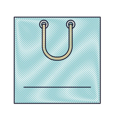 square shopping bag icon with handle in colored vector image