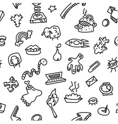 abstract seamless pattern with many items vector image