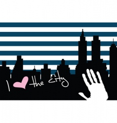 American city background vector image