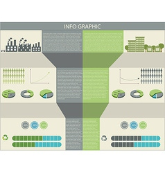 An infographic of humans and the environment vector