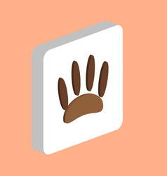 animals footprints computer symbol vector image
